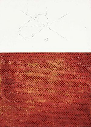 Pouncing in Rich Red Ochre - Large